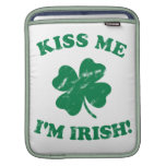 Kiss me I'm Irish Vintage Sleeves For iPads