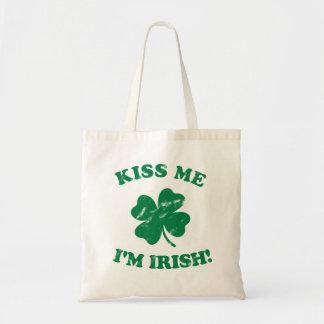 Kiss me I'm Irish Vintage Tote Bag