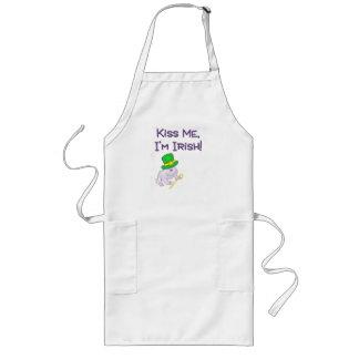 Kiss Me I'm Irish White Toad Products Long Apron
