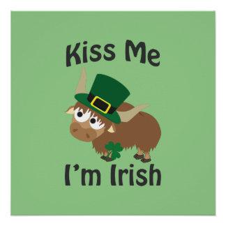 Kiss me I'm Irish Yak Poster