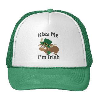Kiss Me I'm Irish yak Trucker Hat