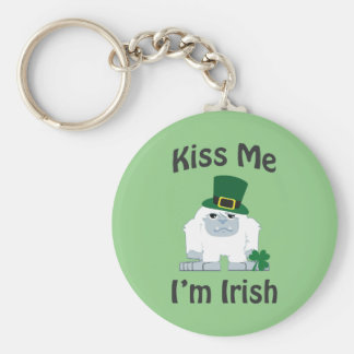 Kiss Me I'm Irish Yeti Keychain