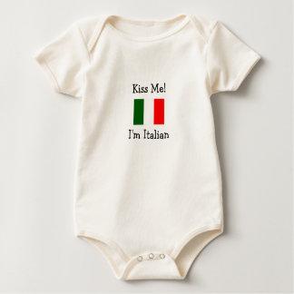 Kiss Me! I'm Italian Baby Bodysuit