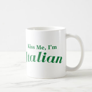 Kiss Me I'm Italian Coffee Mug