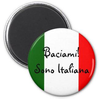 Kiss Me! I'm Italian Fridge Magnets