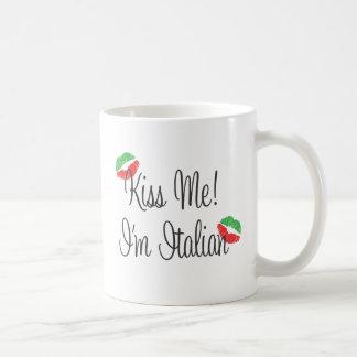 Kiss Me! I'm Italian Mugs