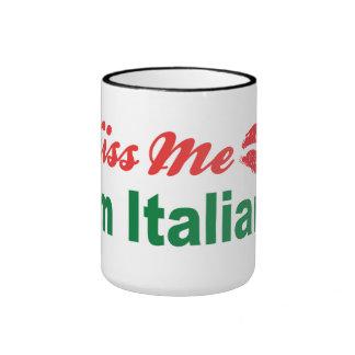 Kiss Me I'm Italian Ringer Mug