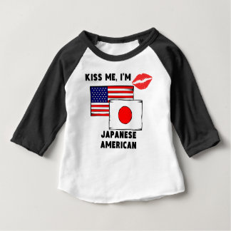Kiss Me I'm Japanese American Baby T-Shirt