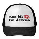 Kiss Me I'm Jewish Hats