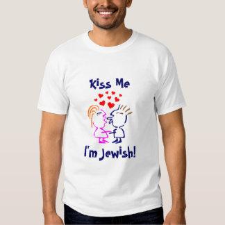 Kiss Me I'm Jewish! Shirt Hearts Couple Kissing