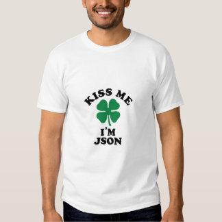 Kiss me, Im JSON T Shirts