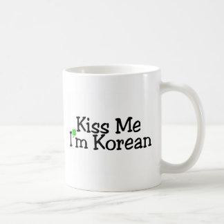 Kiss Me Im Korean Classic White Coffee Mug