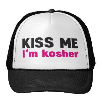 Kiss me i'm kosher trucker hats
