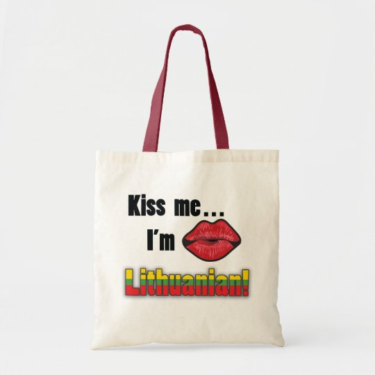 Kiss me I'm Lithuanian Tote Bag