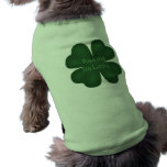 Kiss me I'm lucky 4 leaf clover for dogs Pet Tee Shirt
