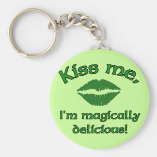 Kiss Me I'm Magically Delicious Keychain