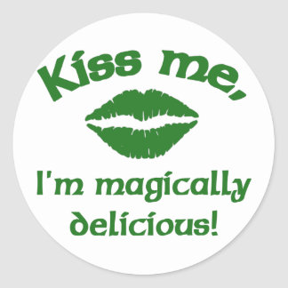 Kiss Me I'm Magically Delicious Classic Round Sticker