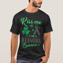 Kiss Me Im Melanoma Survivor T-Shirt