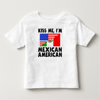 Kiss Me I'm Mexican American Toddler T-shirt