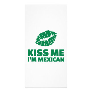 Kiss me I'm mexican St. Patrick Photo Cards