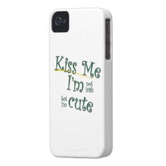 Kiss Me I'm Not Irish I'm Cute iPhone 4 Case-Mate Cases