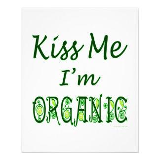 "Kiss Me I'm Organic Green Saying 4.5"" X 5.6"" Flyer"