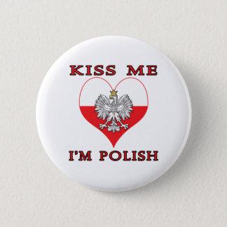 Kiss Me I'm Polish Pinback Button