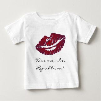 Kiss me I'm Republican Baby T-Shirt