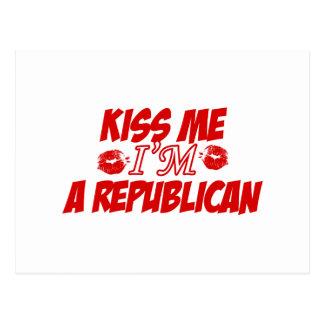 Kiss me I'm republican Postcard