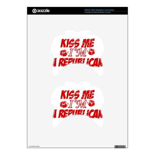 Kiss me I'm republican Xbox 360 Controller Skin