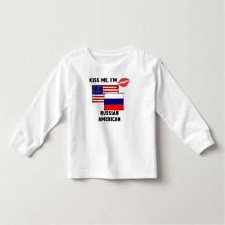 Kiss Me I'm Russian American Toddler T-shirt