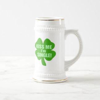 Kiss Me I'm Single Beer Stein