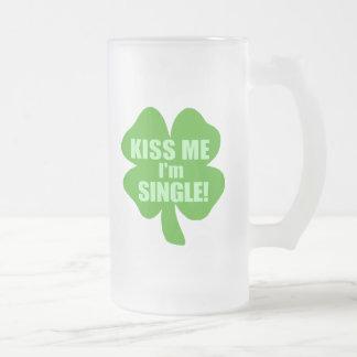 Kiss Me I'm Single Mugs