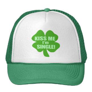 Kiss Me I'm Single Trucker Hat