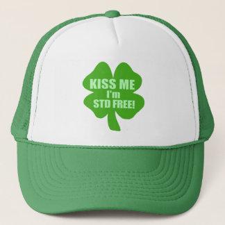 Kiss Me I'm STD Free! Trucker Hat
