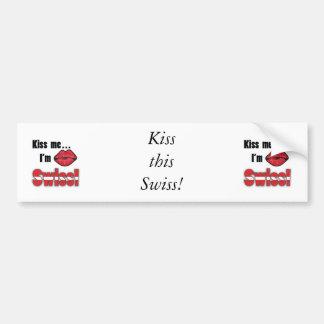 Kiss me I'm Swiss Bumper Sticker