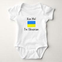 Kiss Me! I'm Ukrainian Baby Bodysuit