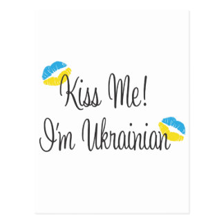 Kiss Me! I'm Ukrainian Postcard