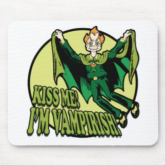 Kiss Me!  I'm Vampirish! Mouse Pad