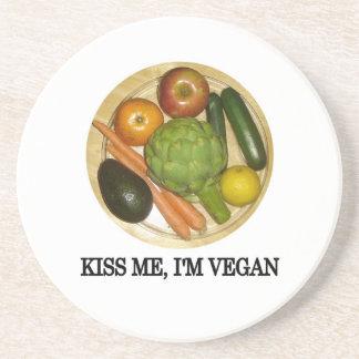 Kiss me, I'm vegan Coaster