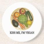 Kiss me, I'm vegan Drink Coaster