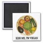 Kiss me, I'm vegan Magnets