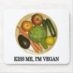 Kiss me, I'm vegan Mouse Pad