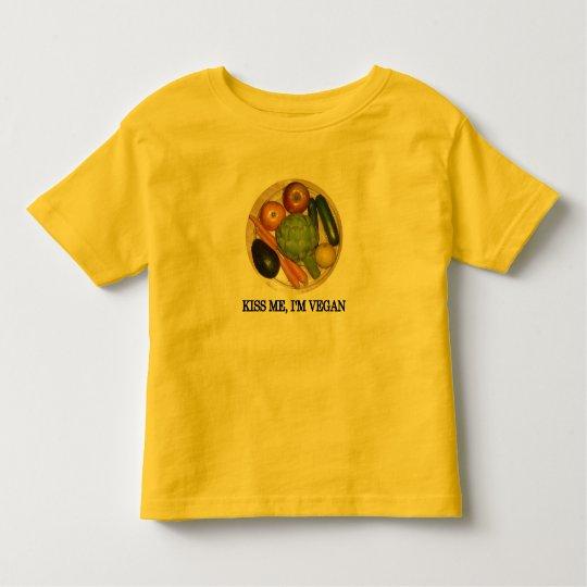 Kiss me, I'm vegan Toddler T-shirt