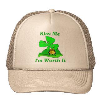 Kiss Me I'm Worth It Trucker Hat