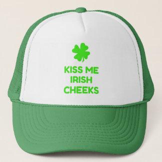 Kiss Me Irish Cheeks Trucker Hat