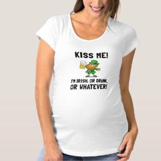 Kiss Me Irish Drunk Maternity T-Shirt