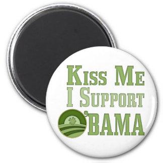Kiss Me Irish Obama 2 Inch Round Magnet