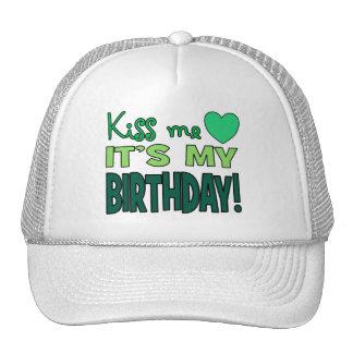 Kiss Me It s My Birthday Mesh Hats