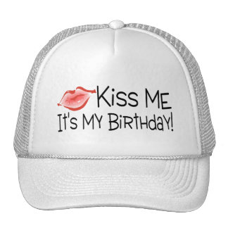 Kiss Me Its My Birthday Kiss Mesh Hats